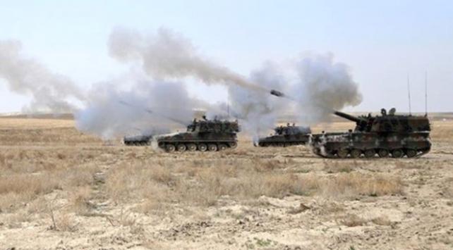 TSK, Afrindeki mevzilere en az 40 topçu atışı yaptı