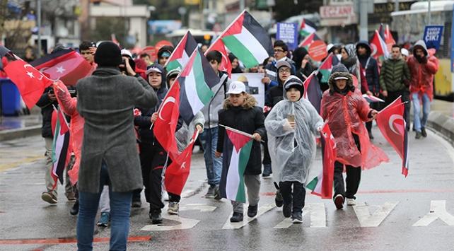 Kudüs Halk Koşusuna yüzlerce vatandaş katıldı
