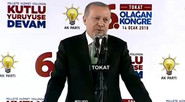 Cumhurbaşkanı Recep Tayyip Erdoğan, AK Parti Tokat İl Kongresinde konuştu