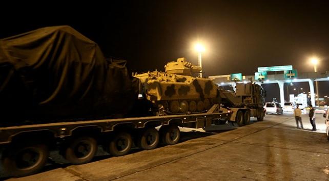 Suriye sınırına takviye amaçlı askeri sevkiyat