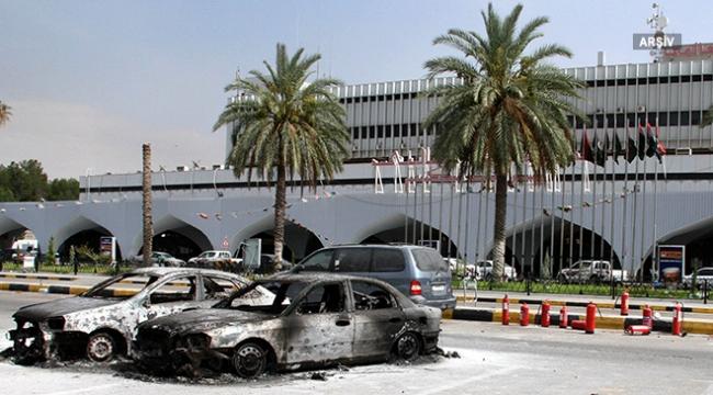 Libyadaki Mitiga Havaalanında çatışma