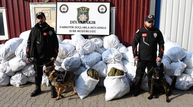 Diyarbakırda uyuşturucu tacirlerine büyük darbe