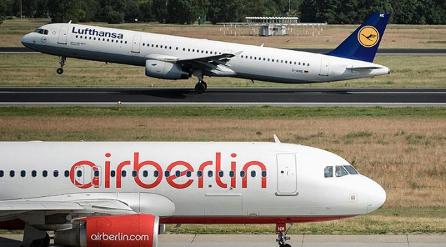İflas eden Alman hava yolu şirketi malzemelerini satışa çıkardı