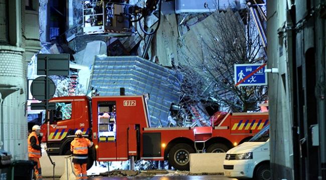 Belçikada patlama sonucu bina yıkıldı: 20 kişi yaralı