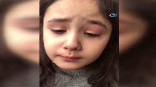 Minik kız, Cumhurbaşkanı Erdoğanı göremeyince gözyaşına boğuldu