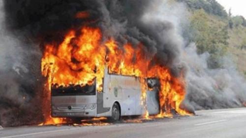 Kazakistanda yolcu otobüsü yandı: 52 ölü