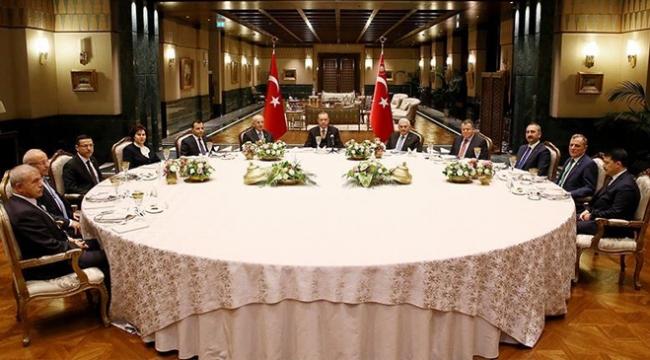 Erdoğan, yasama, yürütme ve yargı temsilcileri ile buluştu