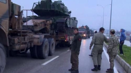 ÖSO askerleri ve mühimmatlar sınır hattına sevk edildi