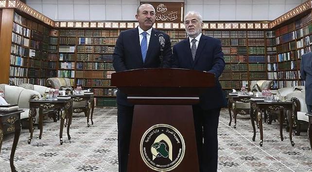 Dışişleri Bakanı Çavuşoğlu, Irak Dışişleri Bakanı Caferi ile görüştü