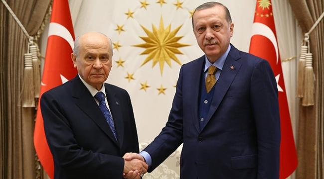Cumhurbaşkanı Recep Tayyip Erdoğan, MHP Genel Başkanı Bahçeli ile görüştü