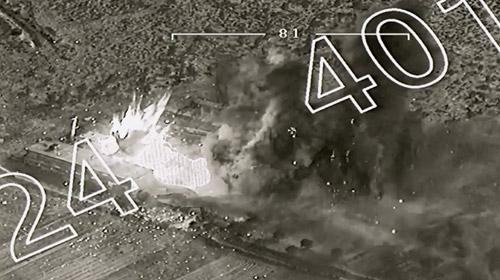 Terör örgütlerine ait silah ve mühimmat deposu vuruldu