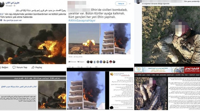 Sosyal medyada Zeytin Dalı Harekatına kara propaganda