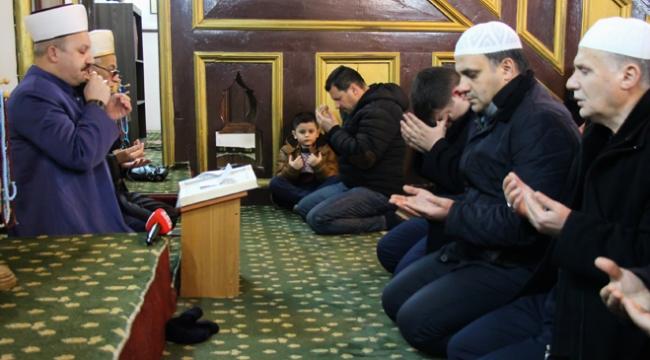 """Üsküpte Zeytin Dalı Harekatı için """"zafer duası"""""""