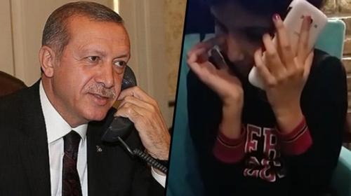 Cumhurbaşkanı Erdoğan, kanser hastası Yağmurla görüştü