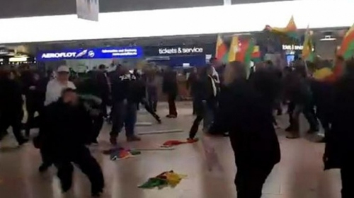 Almanyada PYD/YPG yandaşları Türklere saldırdı