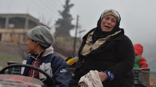 Afrinin köyünde sevinç gözyaşları