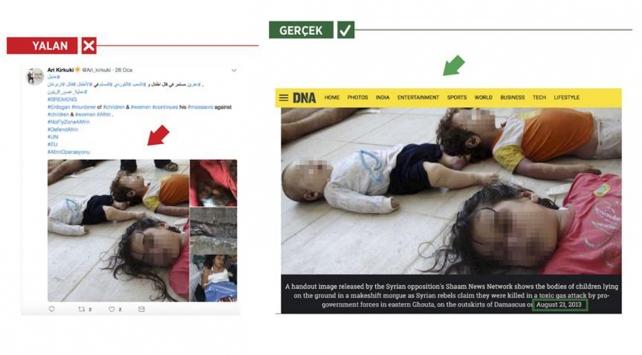 PKKlılar Esed rejiminin öldürdüğü sivilleri Afrinde olmuş gibi gösterdi