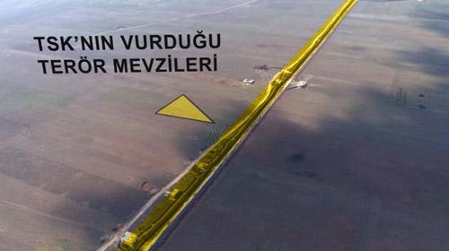 Afrinde operasyon bölgesi ilk kez havadan görüntülendi