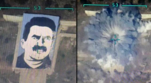 Afrindeki terörist başı posterini SİHAlar işaretleri F-16lar imha etti