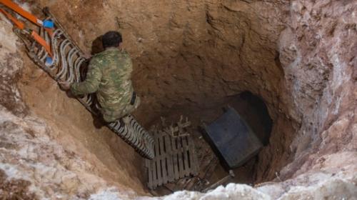 PYD/PKK'lı teröristlerin gizlendiği tünel bulundu