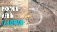 Terör örgütlerinin Afrin'de oluşturduğu tahkim ve mevzilerin uydu görüntüleri ile öncesi sonrası