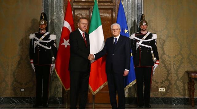 Cumhurbaşkanı Erdoğan, İtalya Cumhurbaşkanı ve Başbakanı ile görüştü