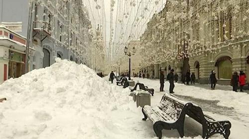 Moskova'da son 60 yılın kar yağışı rekoru kırıldı