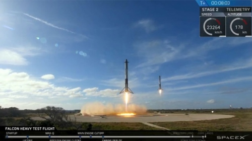Musk'ın Teslası Mars yolculuğuna başladı