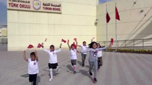 Katar Türk Okulu Afrin'de görev yapan Mehmetçiğe klip hazırladı