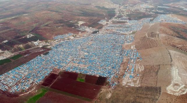 Teröristlerin saldırdığı Atme kampı havadan görüntülendi