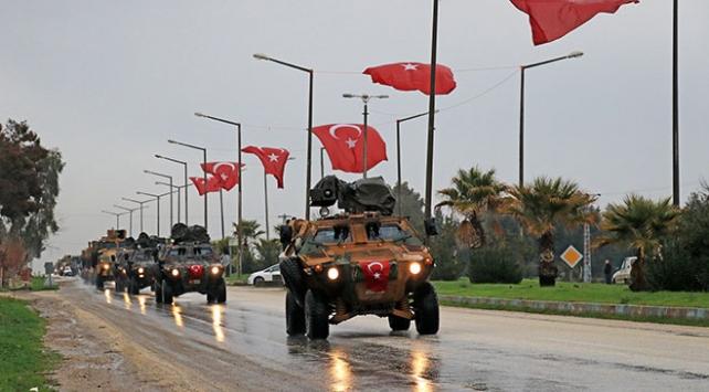 Takviye amaçlı gönderilen zırhlı araçlar Hatayda