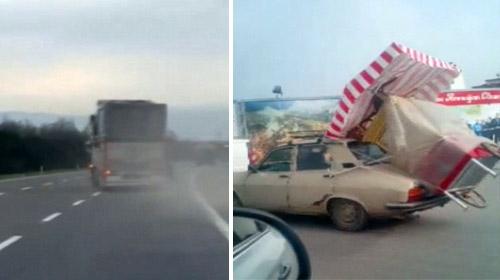 Trafikte yürekleri ağza getiren görüntüler kamerada