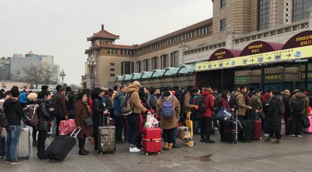 Çinliler Bahar Bayramı için yollarda