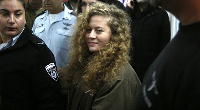 """""""Filistinli cesur kız"""" Ahedin duruşması ertelendi"""