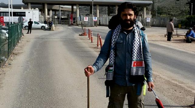 Filistindeki İsrail zulmüne dikkat çekmek için 54 gün yürüdü