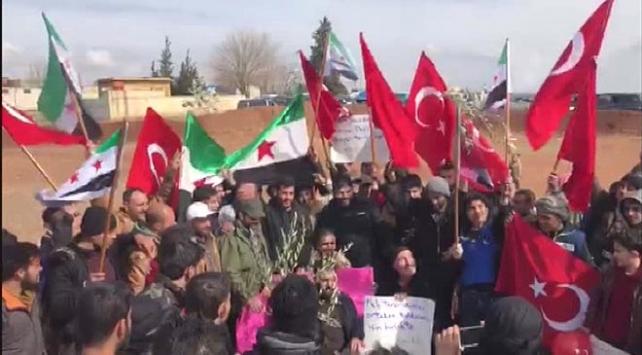 Azez halkı Türk askerine destek konvoyu oluşturdu