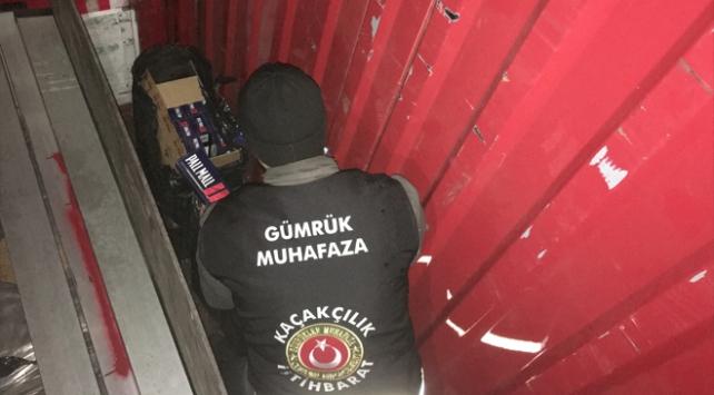Kocaelide 21 bin paket kaçak sigara ele geçirildi