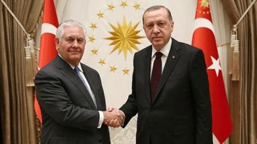 Cumhurbaşkanı Erdoğan, ABD Dışişleri Bakanı Tillerson'ı kabul etti