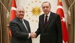 Cumhurbaşkanı Erdoğan, ABD Dışişleri Bakanı Tillersonı kabul etti