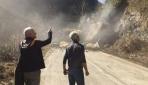 Rize'de toprak kayması cep telefonu kamerasıyla kaydedildi