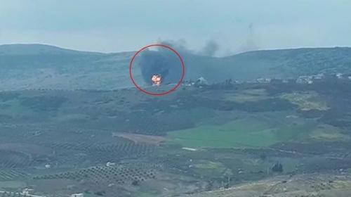 Afrin Suvarinde cephanelik havaya uçuruldu