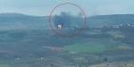 Mehmetçik, Afrinde teröristlerin cephaneliğini tam isabetle vurdu