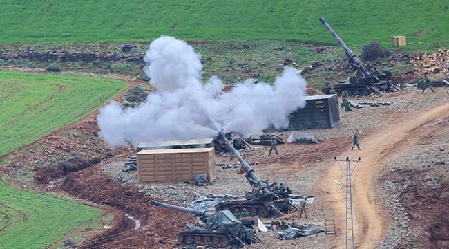 Topçu birlikleri Afrindeki terör mevzilerini vuruyor