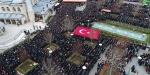 Afrin şehidini son yolculuğuna binlerce kişi uğurlandı