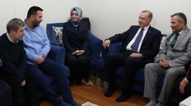 Cumhurbaşkanı Erdoğandan gazi evine ziyaret