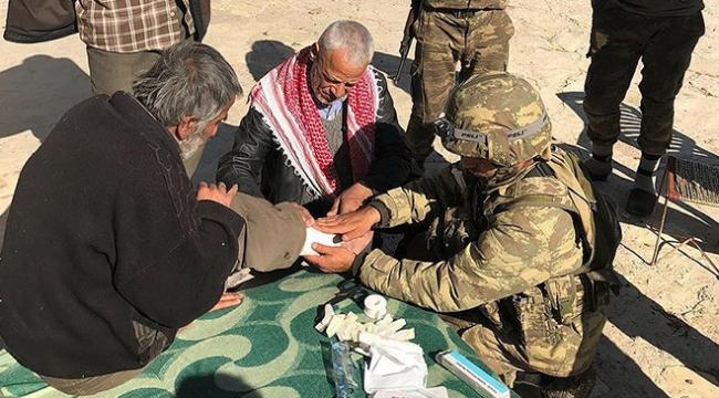 TSK Afrinde yardım ve şifa dağıttı