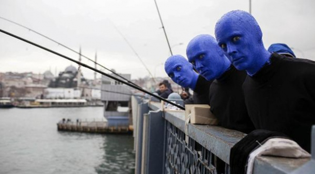 Dünyaca ünlü Blue Man Group Türkiyeye hayran kaldı