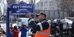 """ABD Büyükelçiliği önündeki caddeye """"Zeytin Dalı"""" tabelası asıldı"""