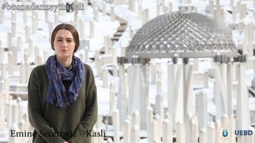 """Bosna halkından Türkiyeye """"Zeytin Dalı"""" desteği"""
