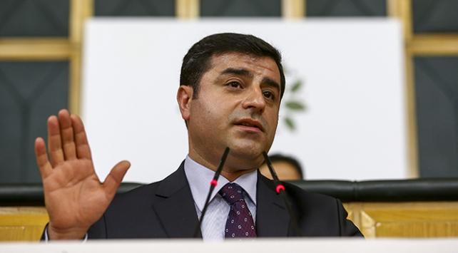 Eski HDP Eş Genel Başkanı Demirtaş hakkında fezleke